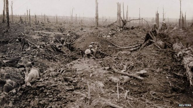 In the trenches at Mametz Wood