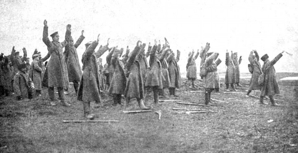 Russian soldiers at tannenberg