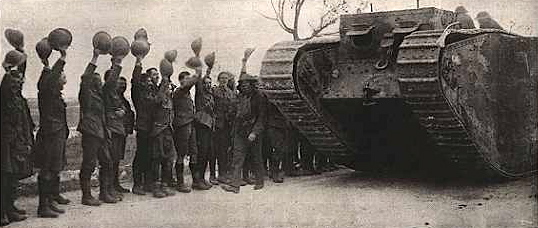 Tank at the battle of Camrai